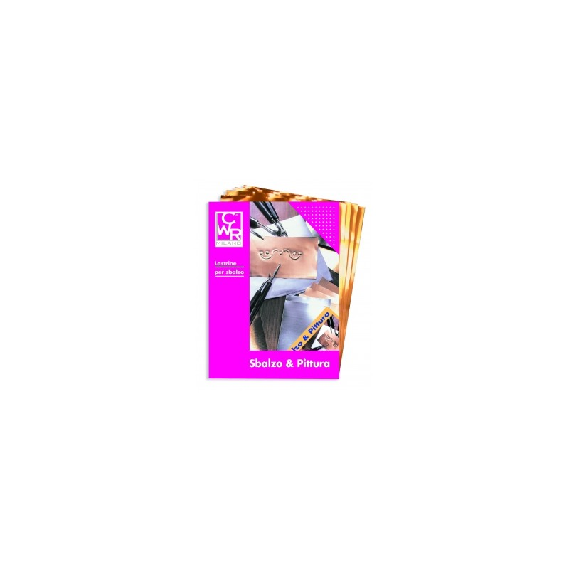 ART.DIDATTICI LASTRA RAME 20x30 conf.12pz    -113/4-  SBALZO