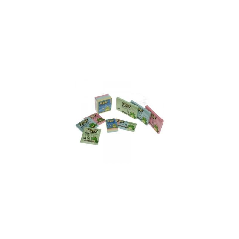 BLOCCO Taggy CUBO FOGLIETTI ADESIVI 76x76 400ff -99612- PASTELLO