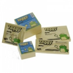BLOCCO Taggy CUBO FOGLIETTI ADESIVI 50x50 300ff -99608-  GIALLO