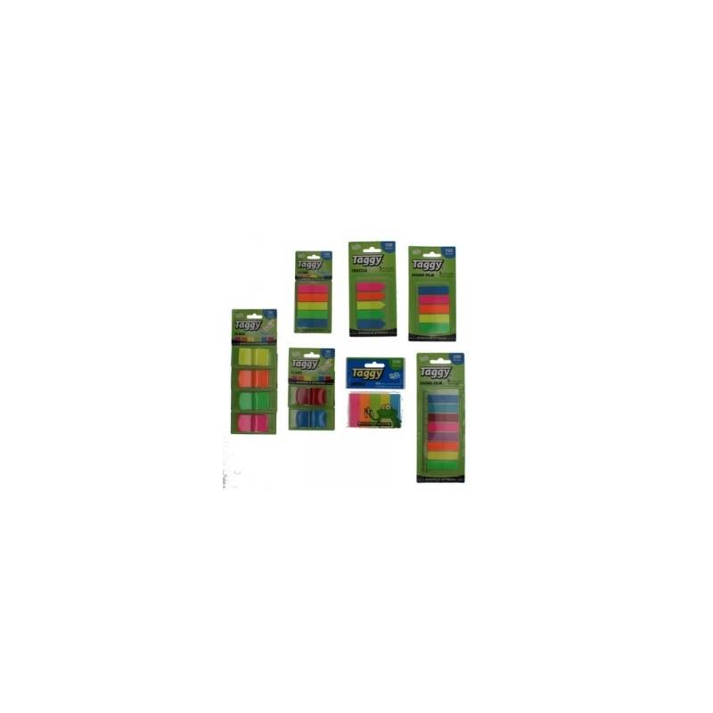 BLOCCO Taggy SEGNAPAGINA IN PLASTICA Rettangolare  conf. 8colori  -99596-