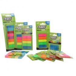 BLOCCO Taggy SEGNAPAGINA CLASSICO IN PLASTICA Rettangolare  -99595- 6 colori