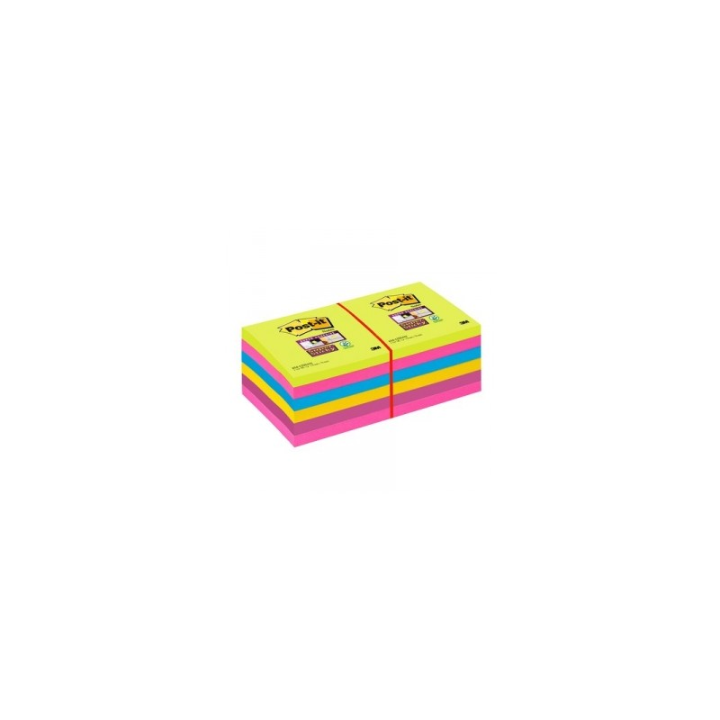 BLOCCO Post-It  NOTES -654-12SSUC  SUPER STICKY 76x76 ULTRACOLOR ***