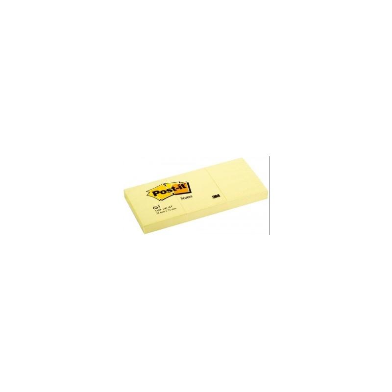 BLOCCO Post-It  NOTES -653- CLASSICO 38x51 conf.12pz - GIALLO