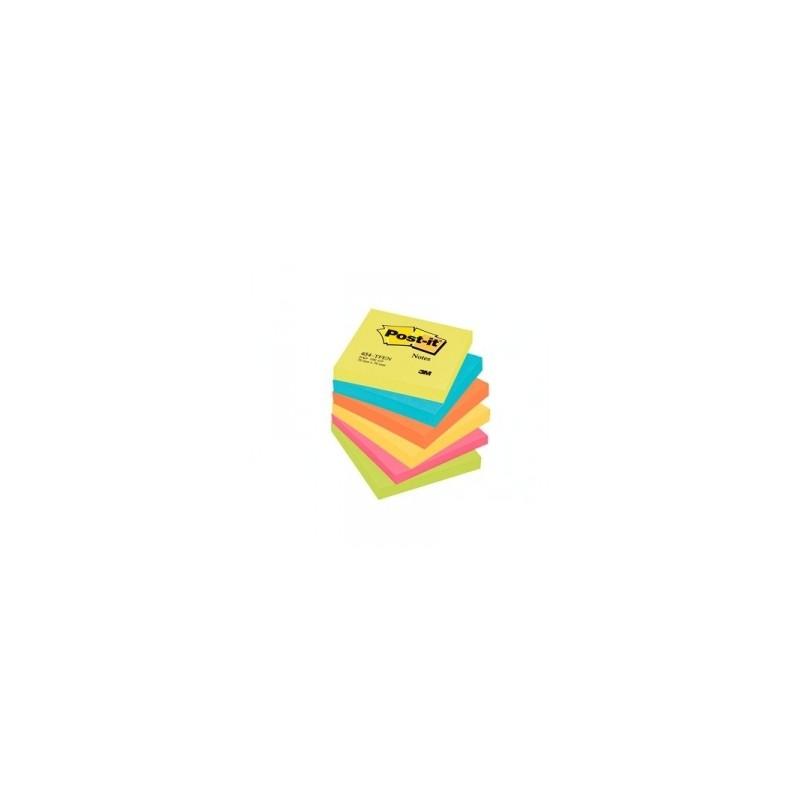 BLOCCO Post-It NOTES -654- CONFEZIONI ASSORTITE 76x76 conf.6pz - ENERGY