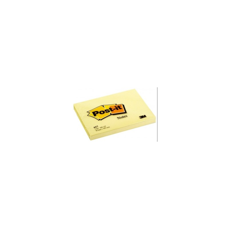 BLOCCO Post-It  NOTES -657- CLASSICO 76x102  conf.12pz GIALLO