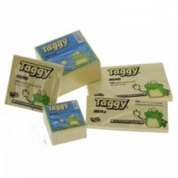 BLOCCO Taggy FOGLIETTI ADESIVI conf.12pz - GIALLO 75x125  -99605-