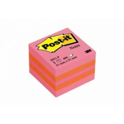 BLOCCO Post-It Mini Cubo -2051P- 51x51 - ROSA