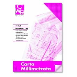 BLOCCO MILLIMETRATO 21x29 CWR - 50ff