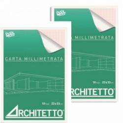 BLOCCO MILLIMETRATO  Architetto   23x33 10fg   20067434-44150-