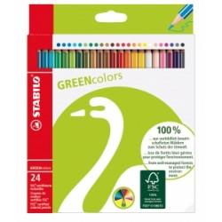 PASTELLI LEGNO Stabilo GREENColors scatola 24colori