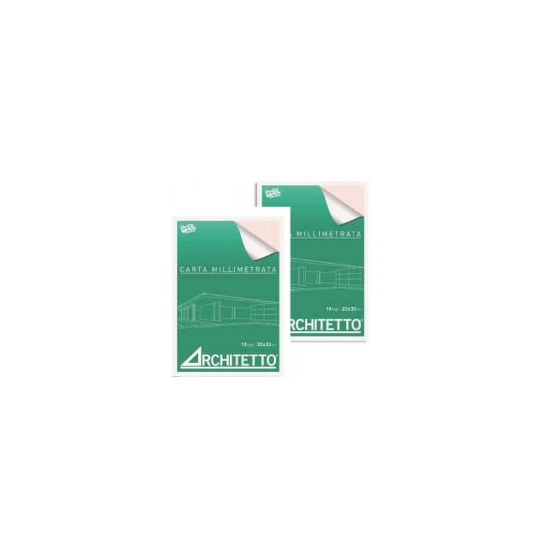 BLOCCO MILLIMETRATO  Architetto   29x42  10fg     -44440-