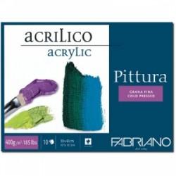 BLOCCO PITTURA Fabriano ACRILICO 25x35  400gr  10ff  Grana fina