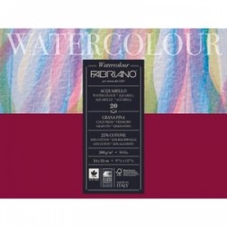 BLOCCO ACQUARELLO Fabriano WATERCOLOR 24x32  300gr  20ff  Grana fina