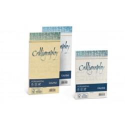 Biglietti Regalo CALLIGRAPHY  Carta Pergamena 90gr - BUSTE 12x18cm conf.25pz - ORO