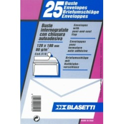 BUSTA COMMERCIALE 120x180  80gr ADESIVE 20 blister da 25pz (510)