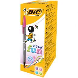 SFERA Bic CRISTALL  FUN 1.6mm  conf.20pz - 4 COLORI ASSORTITI- 3086123272101