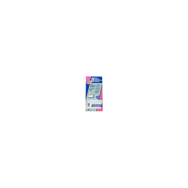 BUSTA AMERICANA  110x230  90gr ADESIVA SENZA FINESTRA  blister 25pz  -548-