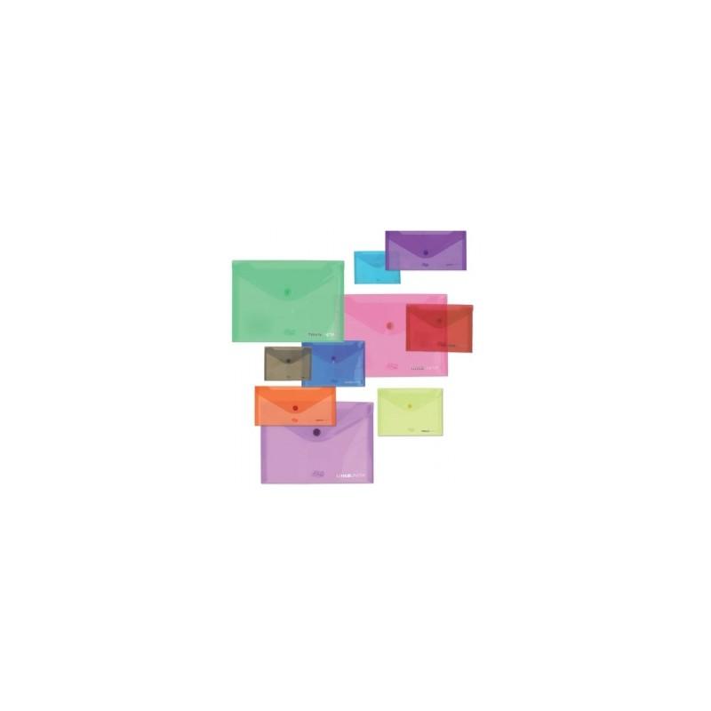BUSTA SACCO PULL  A5  c/bottone  TINTAUNITA conf.12pz - COL. ASSORTITI  (97928)