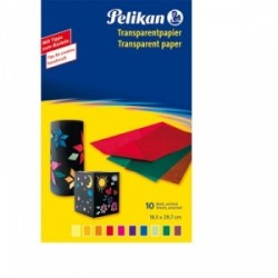 CARTA TRASPARENTE Pelikan COLORATA -233 M/10- PER COLLAGE  conf.10fg
