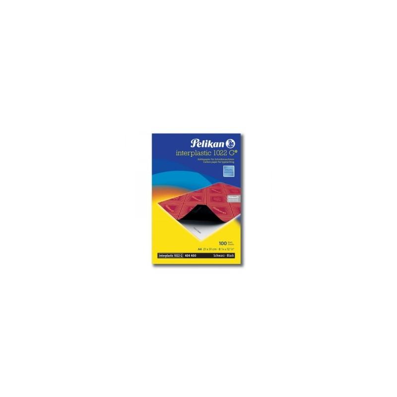 CARTA CARBONE PLASTIC 1022G 10fg. 21x29  nera    *OCO1AA