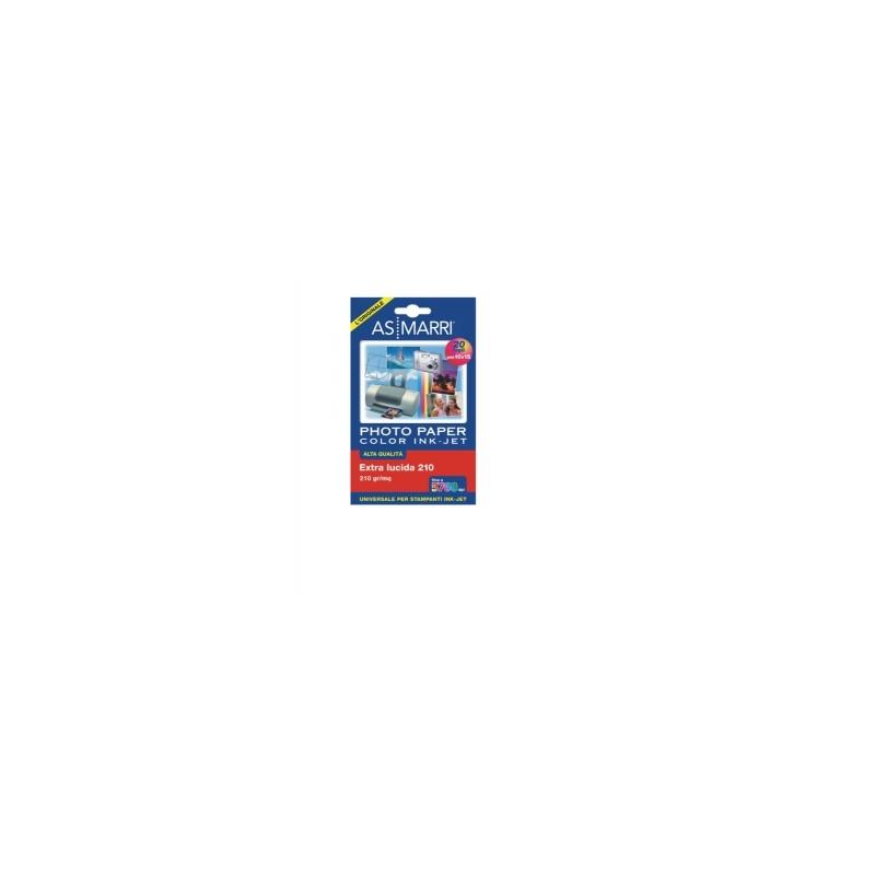 CARTA SPECIALE Ink-Jet LUCIDA 10x15 210gr  conf.20ff    -8869-