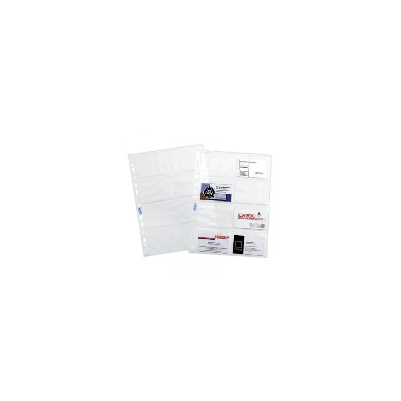 CART. FORATURA TRASP. 22x30 Liscia  8tasche conf.10pz   -BIGLIETTI VISITA-