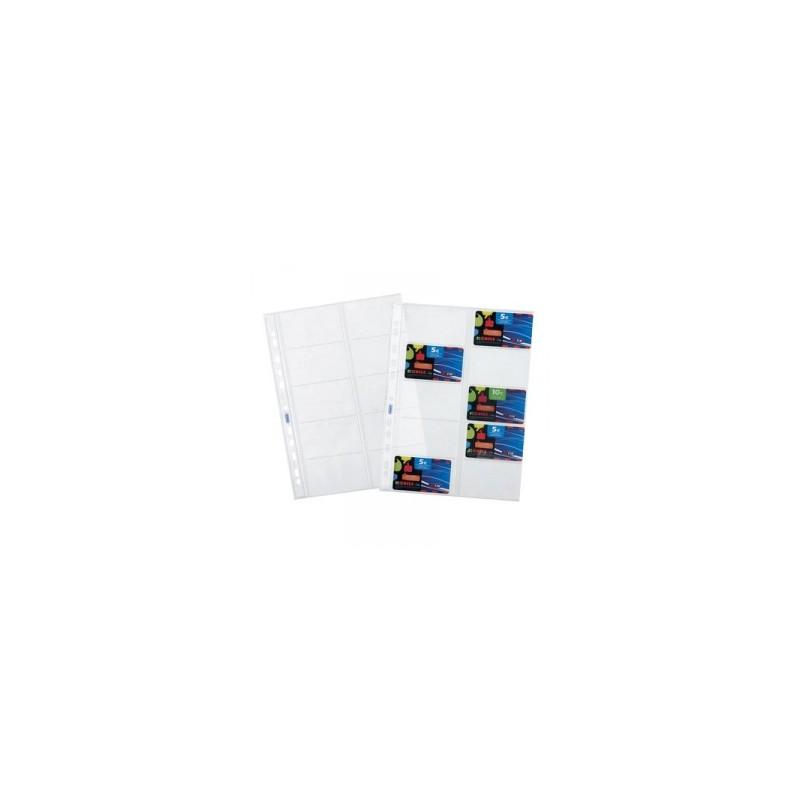 CART. FORATURA TRASP. 22X30 Liscia  10tasche  conf.10pz   -CARTE TELEFONICHE-