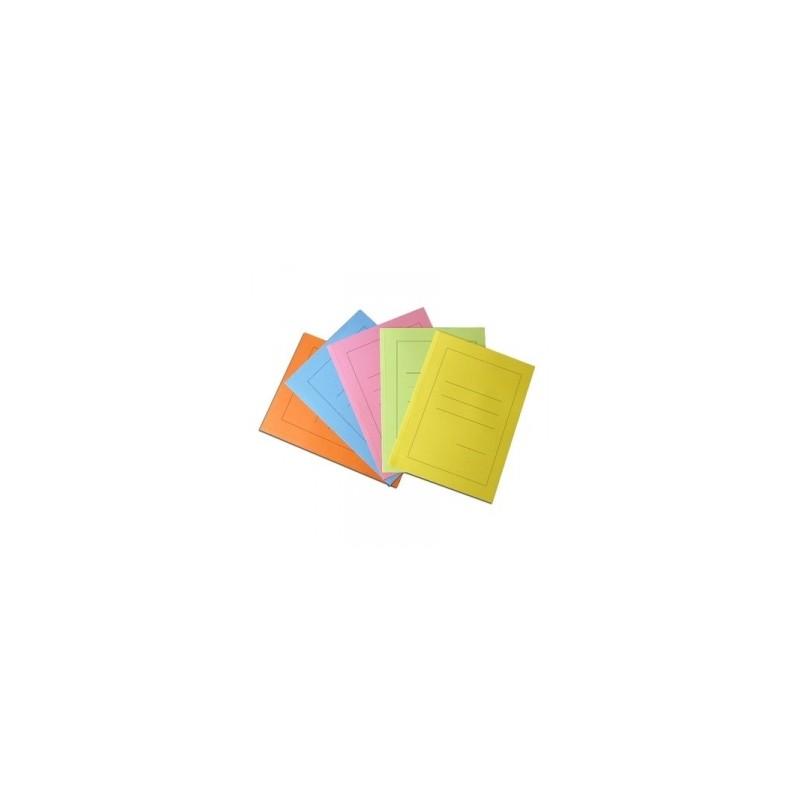 CARTELLE MANILA  SEMPLICE  Diamante  150GR  5colori conf.100pz - AZZURRO