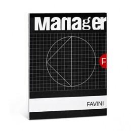 BLOCCO NOTES Manager FAVINI 23x29,7 spiralato 80ff    rigatura 10mm