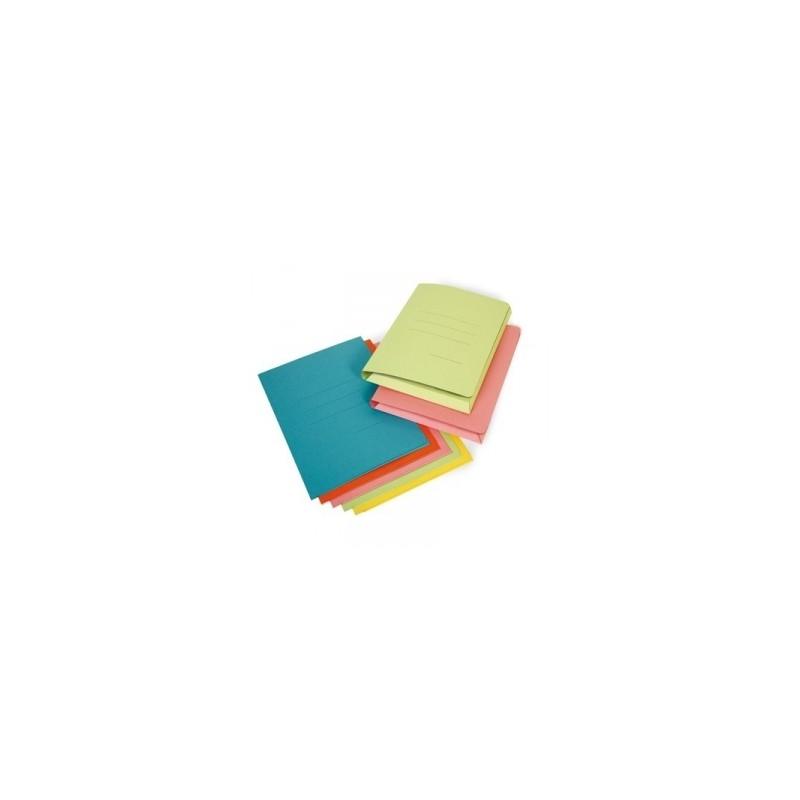 CARTELLE MANILA  TRE LEMBI  Rubino  150GR  5colori conf.50pz - ARANCIO