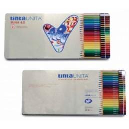 PASTELLI LEGNO TintaUnita MINA 4.0 - 36colori - Scatola Metallo .42918