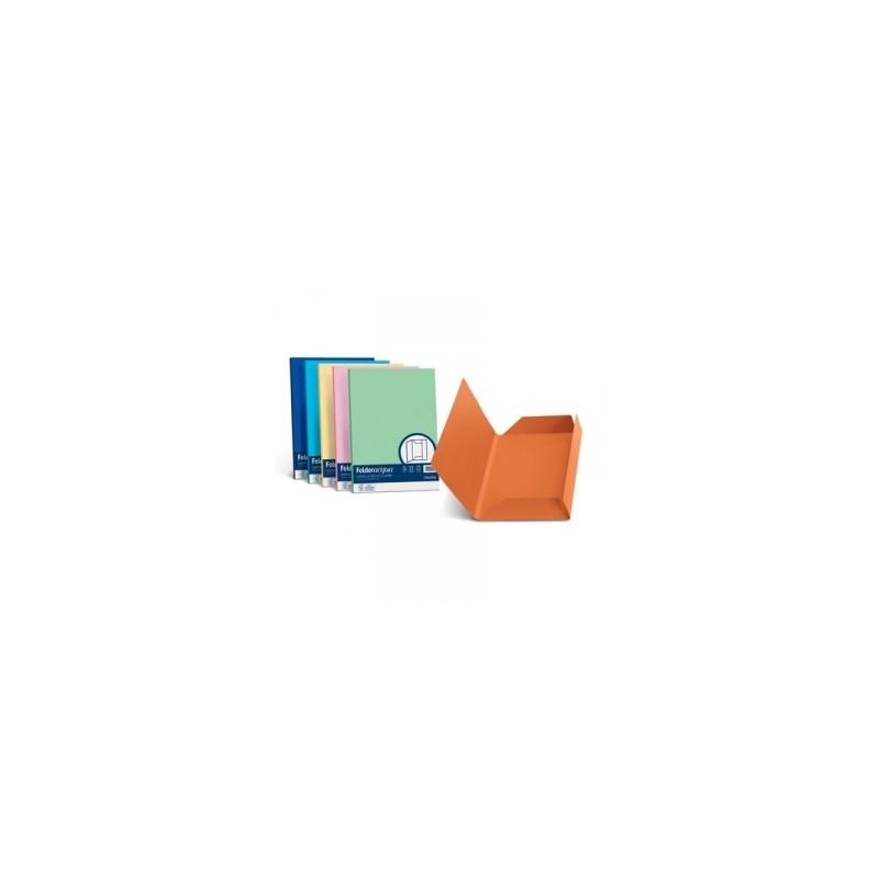 CARTELLE SIMPLEX 3lembi CARTATTI 6colori cf.25pz 200gr ..AZZURRO