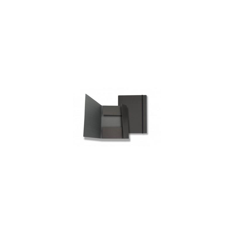 CART.TRE LEMBI 35x50 c/elastico piatto d.4,5cm - COLORE NERO