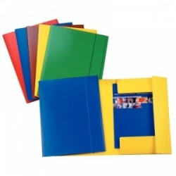 CART.TRE LEMBI PRESPAN 25x35 -C42- LUCIDO c/elastico  - GIALLO