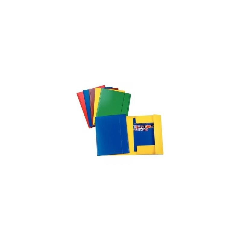 CART.TRE LEMBI PRESPAN 25x35 -C42- LUCIDO c/elastico  - ROSSO