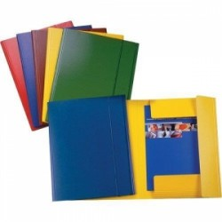 CART.TRE LEMBI PRESPAN 25x35 -C42- LUCIDO c/elastico  - VERDE