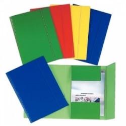 CART.TRE LEMBI CARTONE 25x35 -C46- c/elastico  -  ROSSO