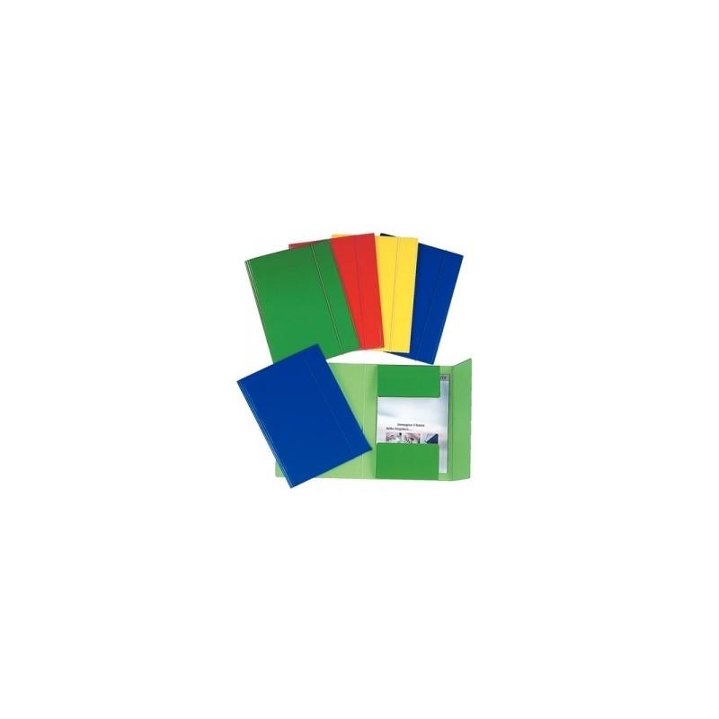 CART.TRE LEMBI CARTONE 25x35 -C46- c/elastico  -  VERDE