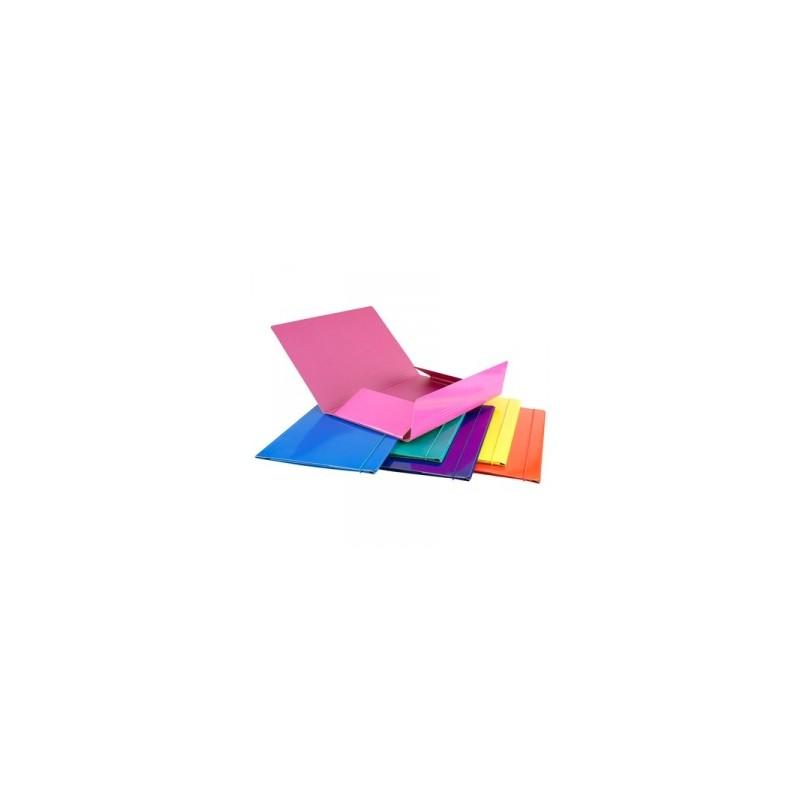 CART.CARTONE 25x35 LUCIDO 3-LEMBI  C/ELASTICO COLORI ASS.TI conf.6pz - ISEO