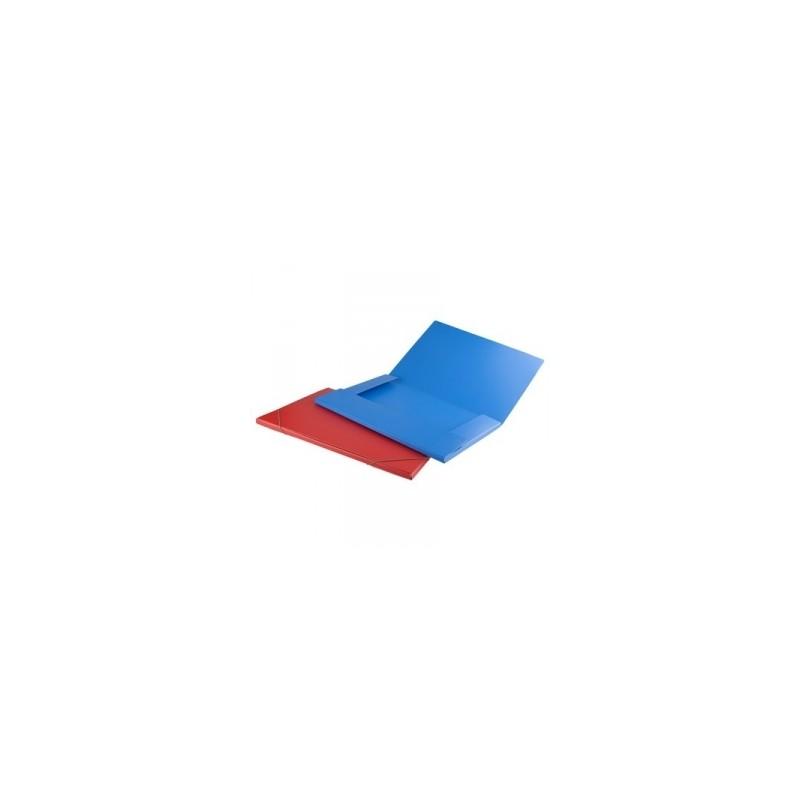 CART.CARTONE 35x50 OPACO 3-LEMBI C/ELASTICO AD ANGOLO AZZURRO