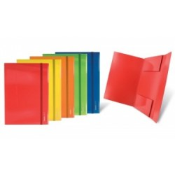 CART.CARTONE 35x50 TintaUnita LUCIDO 3 LEMBI C/ELASTICO PIATTO .98511
