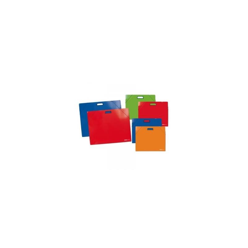 CART.CARTONE 35x50 TintaUnita LUCIDO SEMPLICE C/ELASTICO E MANIGLIA .98512