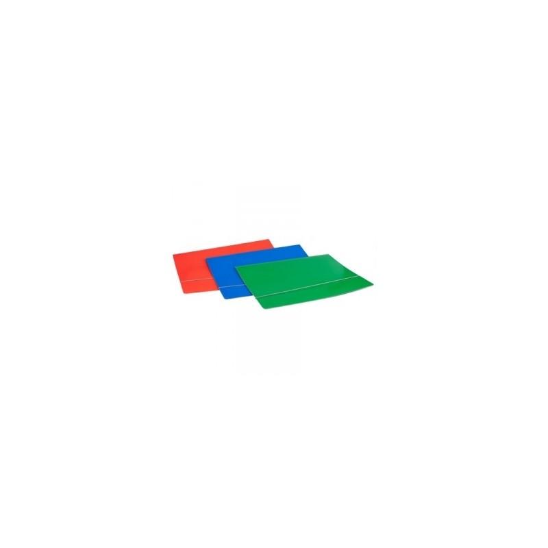 CART.CARTONE 50x70 LUCIDO SEMPLICE C/ELASTICO  AD ANGOLO ROSSO