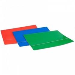 CART.CARTONE 50x70 LUCIDO SEMPLICE C/ELASTICO  AD ANGOLO BLU