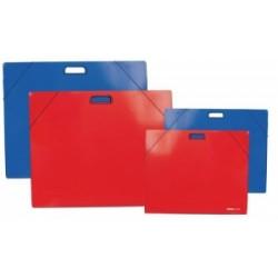 CART.CARTONE 50x70 TintaUnita LUCIDO SEMPLICE C/ELAST E MANIGLIA 2 alette .98513