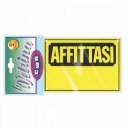 CARTELLI  PLASTICA PER ESTERNO  -AFFITTASI-  conf 2pz