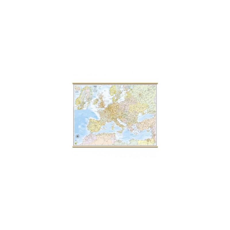 CARTE GEO 050x070 Europa Stradale MURALI PLASTIFICATE