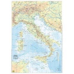 CARTE GEO -A3- Italia  SCUOLA BIFACCIALI PLAST.