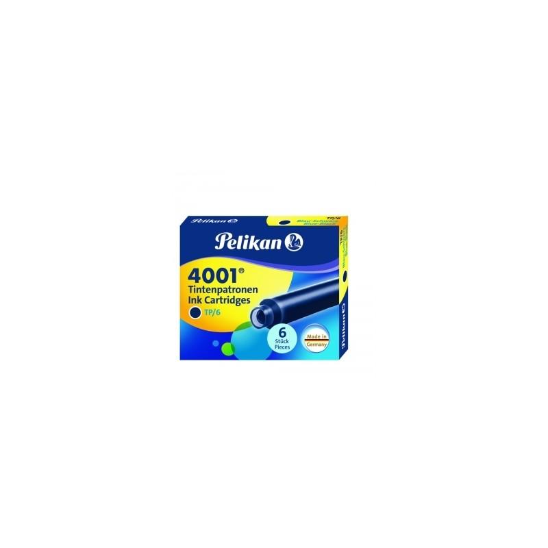 CARTUCCE STILO  PELIKAN  TP/6  INCHIOSTRO 4001 -  BLU/NERO